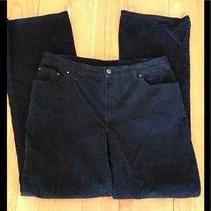 Jones New York black corduroy boot cut pants 6